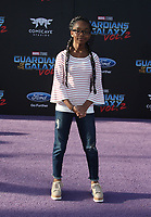 "HOLLYWOOD, CA - April 19: Marsai Martin, At Premiere Of Disney And Marvel's ""Guardians Of The Galaxy Vol. 2"" At The Dolby Theatre  In California on April 19, 2017. Credit: FS/MediaPunch"