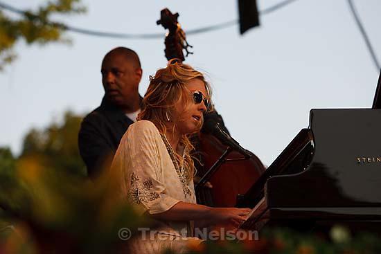 Grammy award-winner Diana Krall performs at Red Butte Garden..Friday July 31, 2009 in Salt Lake City.