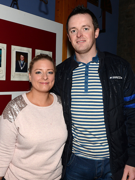 Terence Sweeney and Sinead Maguire at the Ardee Town Council reunion for past members held in Ardee Castle. Photo:Colin Bell/pressphotos.ie