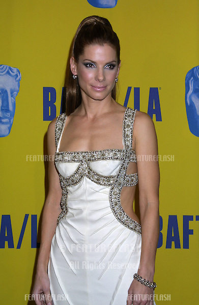Actress SANDRA BULLOCK at the 2003 BAFTA/LA Britannia Awards in Los Angeles..November 8, 2003
