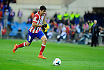 Atletico Madrid's forward Diego Costa during the Spanish league football match Atletico de Madrid vs RCD Espanyol at the Vicente Calderon stadium in Madrid on March 15, 2014. <br />