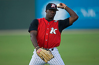 Jared Mitchell #35 of the Kannapolis Intimidators at Fieldcrest Cannon Stadium July 10, 2009 in Kannapolis, North Carolina. (Photo by Brian Westerholt / Four Seam Images)