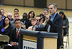 Superintendent Dale Erquiaga speaks before Nevada Gov. Brian Sandoval signs an anti-bullying bill into law at Carson Middle School in Carson City, Nev., on Wednesday, May 20, 2015. <br /> Photo by Cathleen Allison