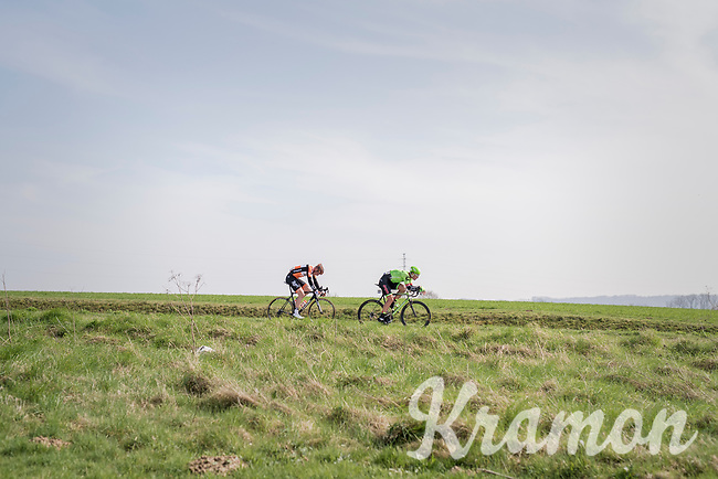 Ryan Mullen (IRE/Cannondale-Drapac) &amp; Berden de Vries (NED/Roompot) trying to break free<br /> <br /> 60th E3 Harelbeke (1.UWT)<br /> 1day race: Harelbeke &rsaquo; Harelbeke - BEL (206km)