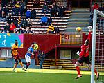 15.12.2019 Motherwell v Rangers: Alfredo Morelos comes close