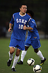 11 October 2009: Duke's Andrew Wagner. The Duke University Blue Devils defeated the University of North Carolina Greensboro Spartans 3-0 at Koskinen Stadium in Durham, North Carolina in an NCAA Division I Men's college soccer game.