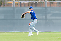 Team Italy outfielder Nicola Garbella (5) warms up before an exhibition game against the Oakland Athletics at Lew Wolff Training Complex on October 3, 2018 in Mesa, Arizona. (Zachary Lucy/Four Seam Images)