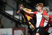 3rd October 2017, The Abbey Stadium, Cambridge, England; Football League Trophy Group stage, Cambridge United versus Southampton U21; Will Wood of Southampton battles with David Amoo of Cambridge United