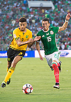 Action photo during the match Mexico vs Jamaica Corresponding to  Group -C- of the America Cup Centenary 2016 at Rose Bowl Stadium.<br /> <br /> Foto de accion durante el partido Mexico vs Jamaica, Correspondiente al Grupo -C- de la Copa America Centenario 2016 en el Estadio Rose Bowl, en la foto: (i-d) Michael Hector de Jamaica y Hector Moreno de Mexico<br /> <br /> <br /> 09/06/2016/MEXSPORT/Jorge Martinez.