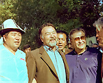 Asanali Ashimov - kazakh actor, film and theatre director, screenwriter and teacher and Raj Kapoor -  indian film and theater actor.