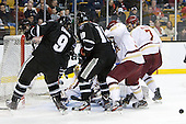 Damian Cross (PC - 9), Derek Army (PC - 19), Patch Alber (BC - 3), Isaac MacLeod (BC - 7) - The Boston College Eagles defeated the Providence College Friars 4-2 in their Hockey East semi-final on Friday, March 16, 2012, at TD Garden in Boston, Massachusetts.