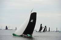 SKUTSJESILEN: LEMMER: Lemster Baai, 18-05-2012, Lemmer Ahoy, skûtsjesilen, skûtsje Sneek, De Sneker Pan, schipper Douwe Jzn. Visser, ©foto Martin de Jong