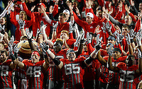 Ohio State Buckeyes offensive lineman Pat Elflein (65) and the Buckeyes sing Carmen Ohio after beating Nebraska Cornhuskers  in Ohio Stadium on November 5, 2016.  (Kyle Robertson / The Columbus Dispatch)