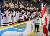 Dawson Creek, BC - Dec 8 2019: Game 4 - Canada East vs Canada West at the 2019 World Junior A Championship at the ENCANA Event Centre in Dawson Creek, British Columbia, Canada. (Photo by Matthew Murnaghan/Hockey Canada)