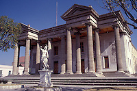 The neoclassical style Teatro Municipal or Municipal Theatre in the city of Quetzaltenango, Guatemala