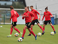20200605 - TUBIZE , Belgium : Davina Vanmechelen with the ball during a training session of the Belgian national women's soccer team called the Red Flames during their after Corona – Covid training week, on the 5 th of June 2020 in Tubize.  PHOTO SEVIL OKTEM| SPORTPIX.BE