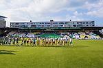 Stockholm 2013-06-23 Fotboll Superettan , Hammarby IF - &Auml;ngelholms FF :  <br /> Hammarby Bajen supportrar tifo  p&aring; Norra l&auml;ktaren med Hammarby legendarer inf&ouml;r den sista matchen p&aring; S&ouml;derstadion <br /> (Foto: Kenta J&ouml;nsson) Nyckelord:  supporter fans publik supporters