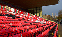 A general view of Sincil Bank, home of Lincoln City FC<br /> <br /> Photographer Andrew Vaughan/CameraSport<br /> <br /> The EFL Sky Bet League Two - Lincoln City v Mansfield Town - Saturday 24th November 2018 - Sincil Bank - Lincoln<br /> <br /> World Copyright &copy; 2018 CameraSport. All rights reserved. 43 Linden Ave. Countesthorpe. Leicester. England. LE8 5PG - Tel: +44 (0) 116 277 4147 - admin@camerasport.com - www.camerasport.com