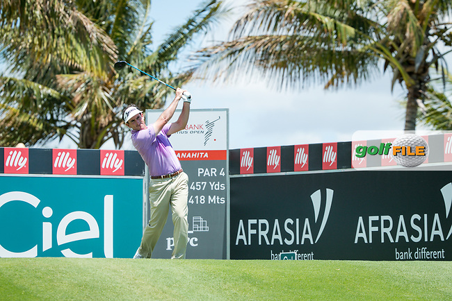 Gonzalo Fedz-Castano (ESP) during the 3rd round of the AfrAsia Bank Mauritius Open, Four Seasons Golf Club Mauritius at Anahita, Beau Champ, Mauritius. 01/12/2018<br /> Picture: Golffile | Mark Sampson<br /> <br /> <br /> All photo usage must carry mandatory copyright credit (&copy; Golffile | Mark Sampson)