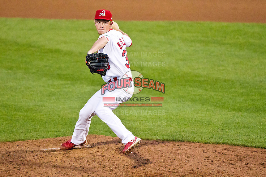 Keith Butler (38) of the Springfield Cardinals delivers a pitch during a game against the Arkansas Travelers at Hammons Field on May 5, 2012 in Springfield, Missouri. (David Welker/Four Seam Images)