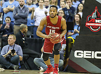 Washington, DC - March 10, 2018: Saint Joseph's Hawks guard Chris Clover (15) passes the ball during the Atlantic 10 semi final game between Saint Joseph's and Rhode Island at  Capital One Arena in Washington, DC.   (Photo by Elliott Brown/Media Images International)