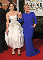 Tina Fey &amp; Amy Poehler at the 72nd Annual Golden Globe Awards at the Beverly Hilton Hotel, Beverly Hills.<br /> January 11, 2015  Beverly Hills, CA<br /> Picture: Paul Smith / Featureflash