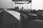 Crowd awaiting the arrival of, Pope John Paul II, on a rainy day, at Battery Park, in the Borough of Manhatten, New York City, NY on October 3, 1979. Photo by Jim Peppler. Copyright/Jim Peppler/1979
