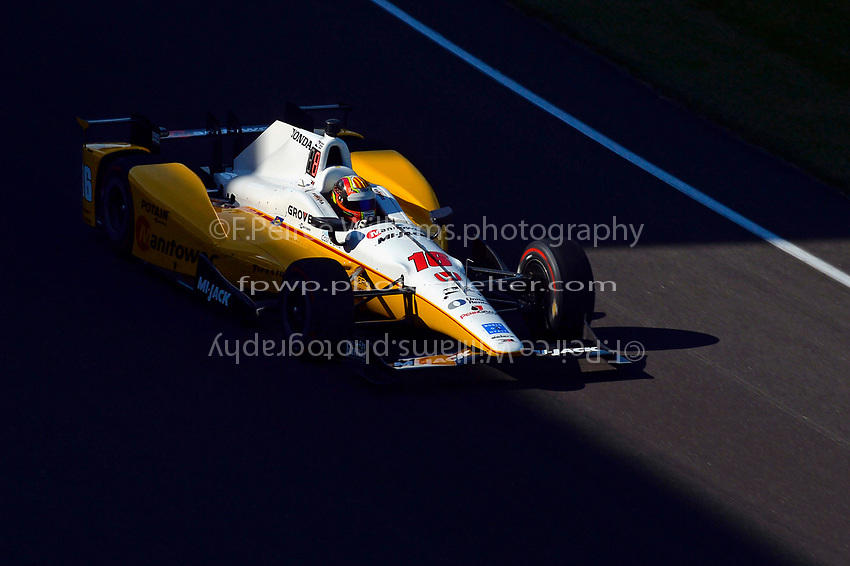 Verizon IndyCar Series<br /> Indianapolis 500 Practice<br /> Indianapolis Motor Speedway, Indianapolis, IN USA<br /> Monday 15 May 2017<br /> Oriol Servia, Rahal Letterman Lanigan Racing Honda<br /> World Copyright: F. Peirce Williams