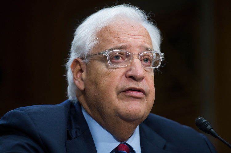 UNITED STATES - FEBRUARY 16: David Friedman, nominee to be U.S. Ambassador to Israel, testifies during his Senate Foreign Relations Committee confirmation hearing in Dirksen Building, February 16, 2017. (Photo By Tom Williams/CQ Roll Call)