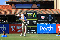 Jack Wilson (AUS) in action on the 1st during Round 1 of the ISPS Handa World Super 6 Perth at Lake Karrinyup Country Club on the Thursday 8th February 2018.<br /> Picture:  Thos Caffrey / www.golffile.ie<br /> <br /> All photo usage must carry mandatory copyright credit (&copy; Golffile | Thos Caffrey)