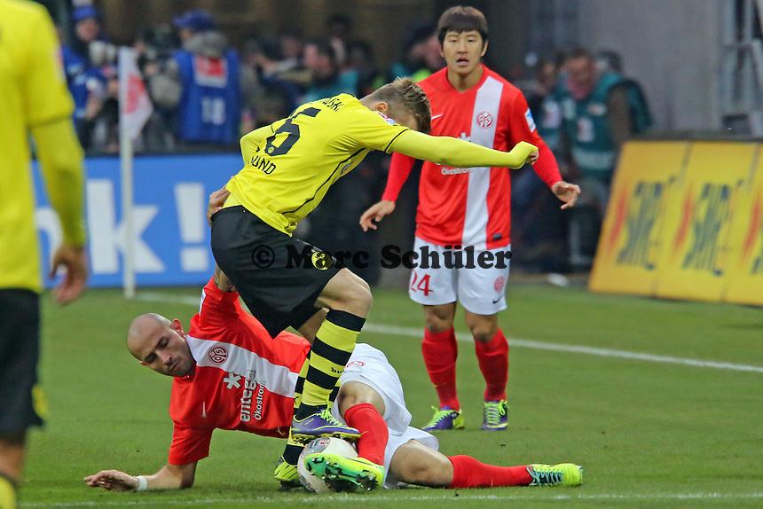 Elkin Soto (Mainz) gegen Lukasz Piszczek (BVB) - 1. FSV Mainz 05 vs. Borussia Dortmund, Coface Arena, 14. Spieltag