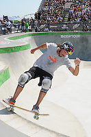 16 August, 2012:  Bucky Lasek competes during the Skateboard Bowl Semi-final at the Pantech Beach Championships in Ocean City, MD