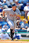13 March 2007: Detroit Tigers infielder Chris Shelton in the action against the Los Angeles Dodgers at Holman Stadium in Vero Beach, Florida.<br /> <br /> Mandatory Photo Credit: Ed Wolfstein Photo