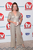 Zoe Tapper<br /> at the TV Choice Awards 2018, Dorchester Hotel, London<br /> <br /> ©Ash Knotek  D3428  10/09/2018