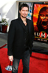 "Designer and Artist Aaron Sims arrives at the American Premiere of ""The Mummy: Tomb Of The Dragon Emperor at the Gibson Amphitheatre on July 27, 2008 in Universal City, California."