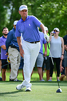 Davis Love III (USA) stretches on the third tee during round 3 of the Shell Houston Open, Golf Club of Houston, Houston, Texas, USA. 4/1/2017.<br /> Picture: Golffile | Ken Murray<br /> <br /> <br /> All photo usage must carry mandatory copyright credit (&copy; Golffile | Ken Murray)
