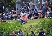 Fans watch the 2018 Suzuki series Cemetery Circuit motorcycle racing at Cooks Gardens in Wanganui, New Zealand on Wednesday, 28 December 2018. Photo: Dave Lintott / lintottphoto.co.nz
