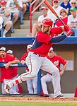 5 March 2015: Washington Nationals outfielder \was34\ at bat during a Spring Training game against the New York Mets at Space Coast Stadium in Viera, Florida. The Nationals rallied to defeat the Mets 5-4 in their Grapefruit League home opening game. Mandatory Credit: Ed Wolfstein Photo *** RAW (NEF) Image File Available ***