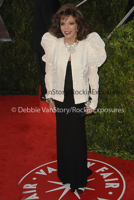 Joan Collins attends The 2010 Vanity Fair Oscar Party held at The Sunset Tower Hotel in West Hollywood, California on March 07,2010                                                                                       © 2010 DVS / RockinExposures..