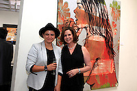 SANTA MONICA - JUN 25: Louisa Saba, Denise Weiss at the David Bromley LA Women Art Exhibition opening reception at the Andrew Weiss Gallery on June 25, 2016 in Santa Monica, California