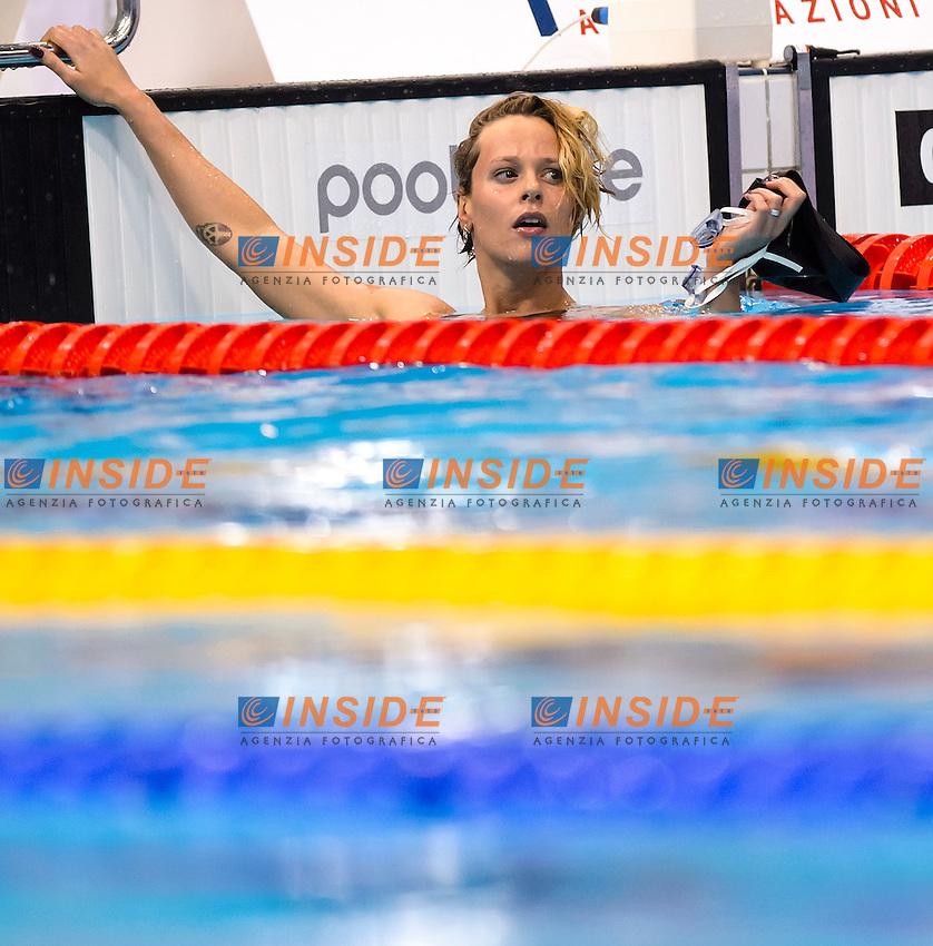 Federica PELLEGRINI ITA <br /> 4x200 Freestyle Women Relay Final <br /> London, Queen Elizabeth II Olympic Park Pool <br /> LEN 2016 European Aquatics Elite Championships <br /> Swimming<br /> Day 11 19-05-2016<br /> Photo Andrea Staccioli/Deepbluemedia/Insidefoto