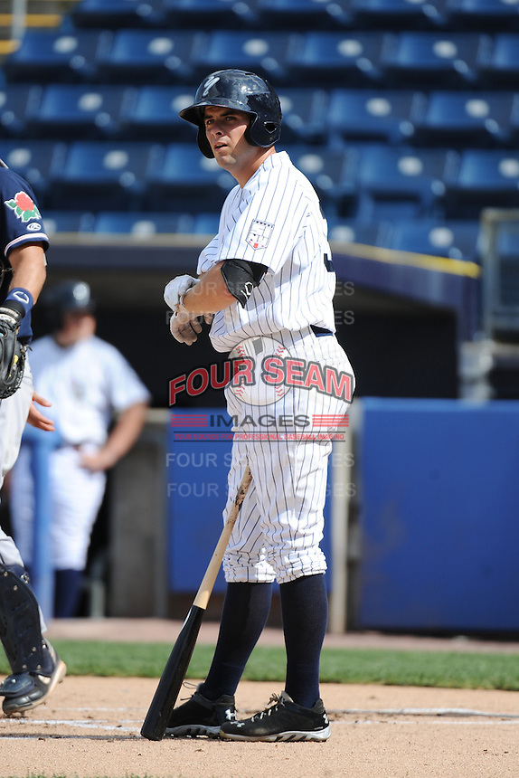Staten Island Yankees outfielder Michael O'Neill (39) during game against the Connecticut Tigers at Richmond County Bank Ballpark at St.George on July 7, 2013 in Staten Island, NY.  Staten Island defeated Connecticut 6-2.  (Tomasso DeRosa/Four Seam Images)