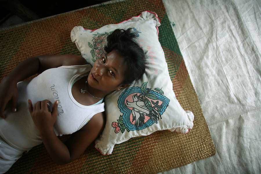 """Linda, 21, a sex worker who says she has """"Chinese boyfriends"""" and sometimes spends days and nights on visiting purse seiners in the Tarawa harbour. The heads of the two major churches in Kiribati have renewed criticism of local women boarding foreign fishing vessels. The church leaders said they are worried about the spread of prostitution. Roman Catholic Church head Bishop Paul Mwea said his and other Christian churches continue to denounce the practice. There is no way that the church will change its principles or opposition to prostitution, he said."""