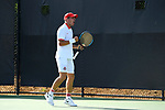 WINSTON SALEM, NC - MAY 22: John McNally of the Ohio State Buckeyes celebrates a point against the Wake Forest Demon Deacons during the Division I Men's Tennis Championship held at the Wake Forest Tennis Center on the Wake Forest University campus on May 22, 2018 in Winston Salem, North Carolina. Wake Forest defeated Ohio State 4-2 for the national title. (Photo by Jamie Schwaberow/NCAA Photos via Getty Images)