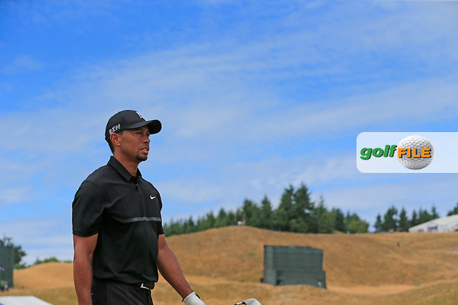 Tiger WOODS (USA) walks off the 4th tee during Thursday's Round 1 of the 2015 U.S. Open 115th National Championship held at Chambers Bay, Seattle, Washington, USA. 6/18/2015.<br /> Picture: Golffile | Eoin Clarke<br /> <br /> <br /> <br /> <br /> All photo usage must carry mandatory copyright credit (&copy; Golffile | Eoin Clarke)