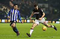 Bolton Wanderers' Yanic Wildschut competing with Sheffield Wednesday's Joey Pelupessy <br /> <br /> Photographer Andrew Kearns/CameraSport<br /> <br /> The EFL Sky Bet Championship - Sheffield Wednesday v Bolton Wanderers - Tuesday 27th November 2018 - Hillsborough - Sheffield<br /> <br /> World Copyright © 2018 CameraSport. All rights reserved. 43 Linden Ave. Countesthorpe. Leicester. England. LE8 5PG - Tel: +44 (0) 116 277 4147 - admin@camerasport.com - www.camerasport.com