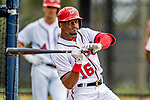 22 February 2019: Washington Nationals outfielder Victor Robles takes batting practice during a Spring Training workout at the Ballpark of the Palm Beaches in West Palm Beach, Florida. Mandatory Credit: Ed Wolfstein Photo *** RAW (NEF) Image File Available ***