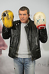 Spanish actor Antonio Banderas poses for the photographers during the `Automata´ film presentation in Madrid, Spain. January 20, 2015. (ALTERPHOTOS/Victor Blanco)