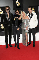 LOS ANGELES - FEB 10:  Anthony Rossomando, Lady Gaga, Andrew Wyatt, Mark Ronson at the 61st Grammy Awards at the Staples Center on February 10, 2019 in Los Angeles, CA