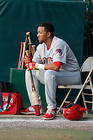 Clearwater Threshers infielder J.P. Crawford (2) before a game against the Daytona Tortugas at Radiology Associates Field at Jackie Robinson Ballpark on May 9, 2015 in Daytona, Florida. Clearwater defeated Daytona 7-0. (Robert Gurganus/Four Seam Images)